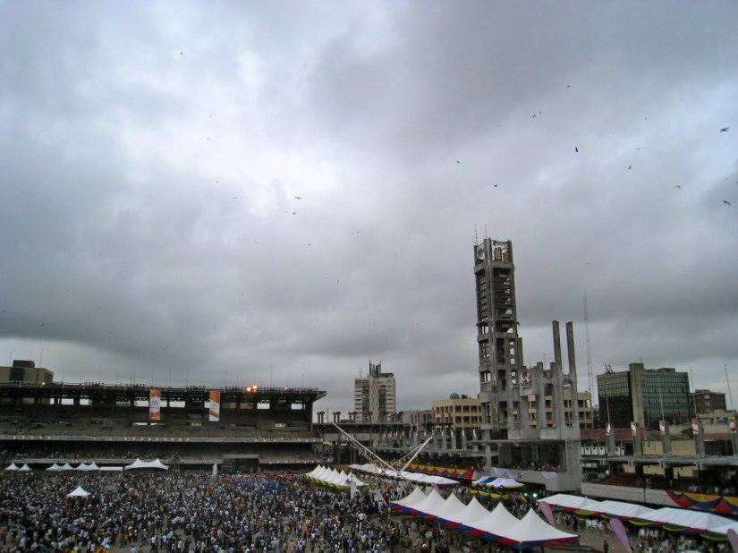 Fruit Bats flying over Race Course in Lagos